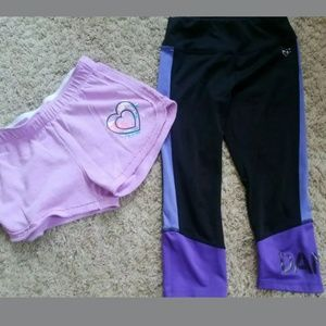 Girl's Justice Dance size 10 shorts and capris